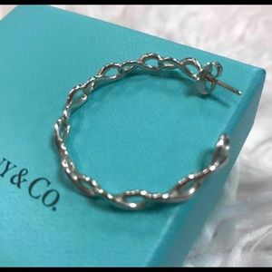 Tiffany and Co Infinity Hoop Earrings